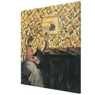 Misia at the Piano Canvas Print