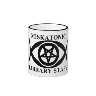 MISKATONIC LIBRARY STAFF RINGER MUG