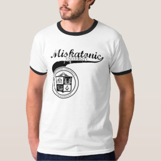 Miskatonic University Black on grey T-Shirt