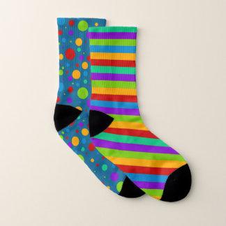 Mismatch Rainbow Stripes Polka Dot 1