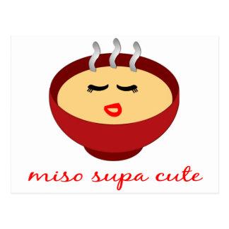 Miso Supa Cute Ladies / Girls Product Design Postcard