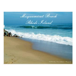 Misquamicut Beach Rhode Island Postcard