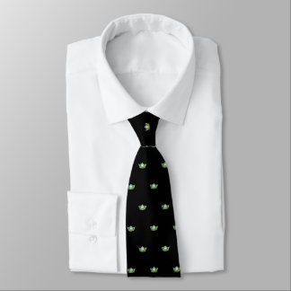 Miss America Apple Green& Black Crown Men's Tie