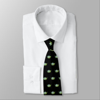 Miss America Apple Green Crown Men's Tie