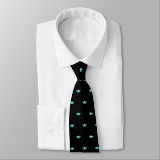 Miss America Aqua Crown & Black Men's Tie