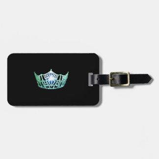 Miss America Aqua Crown Luggage Tag