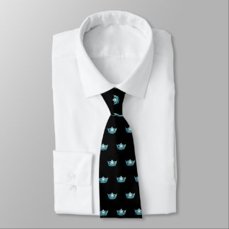 Miss America Aqua Crown Men's Tie