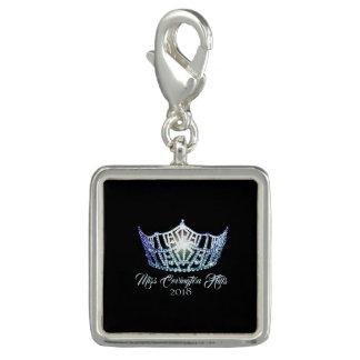Miss America Baby Blue Crown SP Charm-Custom Name