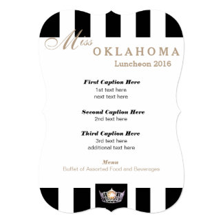 Miss America Black Stripe Luncheon Program Card