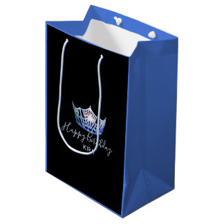 Miss America Blue Crown 2-Tone Gift Bag-Medium Medium Gift Bag