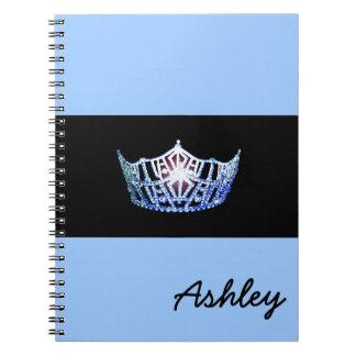Miss America Blue Crown Notebook- Custom Name Notebook