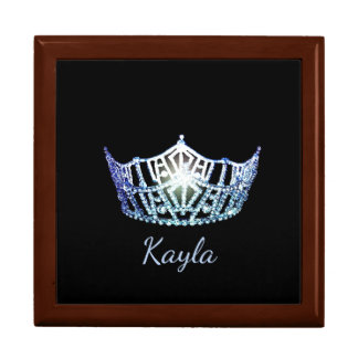 Miss America Blue Crown Personal Name Jewerly Box
