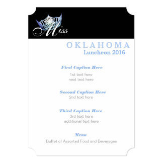Miss America Classic Shimmer Luncheon Program Card