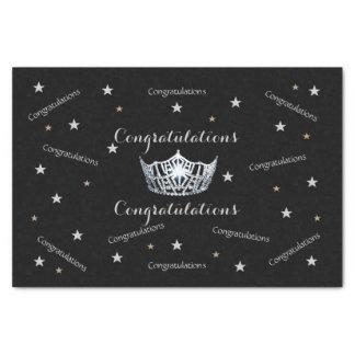 Miss America Congratulations Tissue Paper