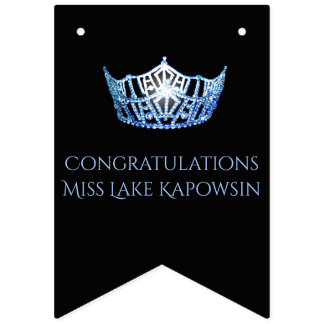 Miss America Crown Party Bunting Banner