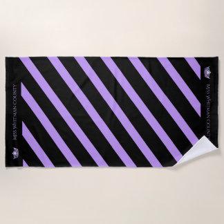 Miss America Custom Stripe Lilac Crown Beach Towel