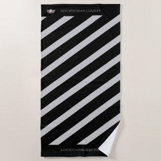 Miss America Custom Stripe SLVR Crown Beach Towel