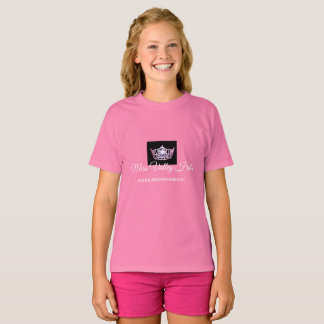 Miss America Girls Pink Crown Custom Name Top