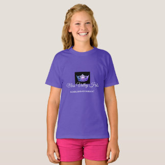 Miss America Girls Purple Crown Custom Name Top