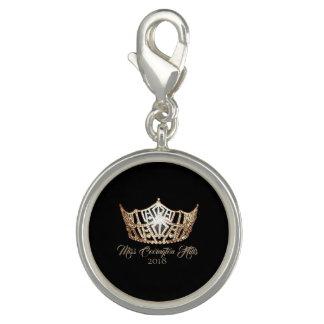 Miss America Gold Crown SP Charm-Custom Name