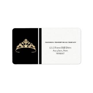 Miss America Gold Tiara Crown Address Labels