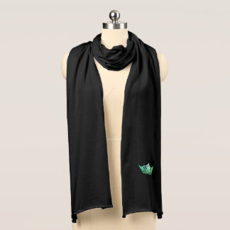 Miss America Green Crown Knit Scarf