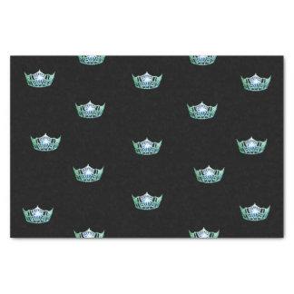 Miss America Green Crown Tissue Paper