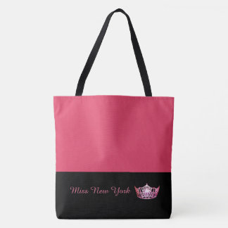 Miss America  Hot Pink Crown Tote Bag- Geranium