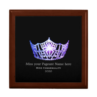 Miss America Lavender Crown Awards Jewelry Box