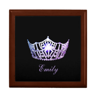 Miss America Lilac Crown Personal Name Jewerly Box