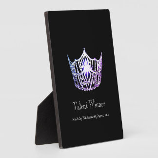 Miss America Lilac Crown Talent Winner Plaque