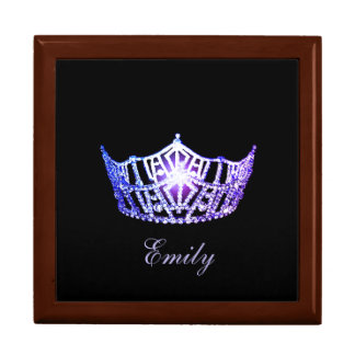Miss America LVNDR Crown Personal Name Jewerly Box