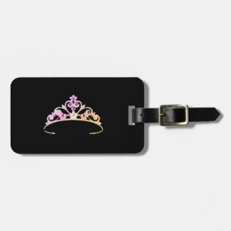 Miss America Multi Lilac Tiara Luggage Tag
