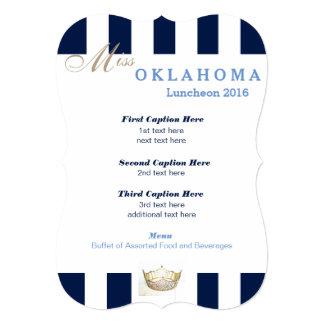 Miss America Navy Stripe Luncheon Program Card
