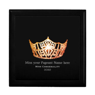 Miss America Orange Crown Awards Jewelry Box