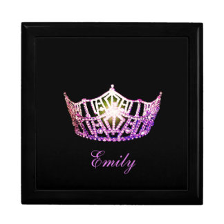 Miss America ORCHD Crown Personal Name Jewerly Box