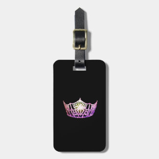 Miss America Orchid Crown Luggage Tag-Vertical Luggage Tag