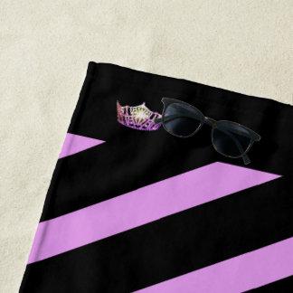 Miss America Orchid Stripe Crown Beach Towel