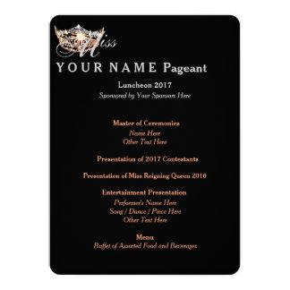 Miss America Peach Crown Double-Side Luncheon Card 14 Cm X 19 Cm Invitation Card