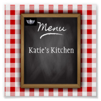 Miss America Personalized Kitchen Art Poster