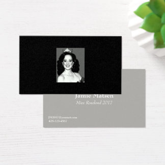 Miss America Photo Business Cards