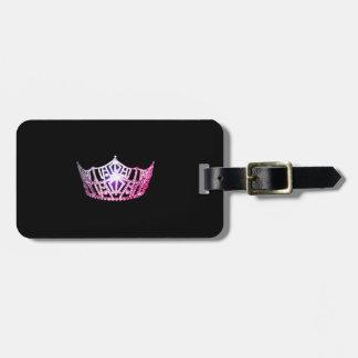 Miss America Pink Crown Luggage Tag