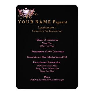 Miss America Pink Crown Luncheon Program Card 14 Cm X 19 Cm Invitation Card