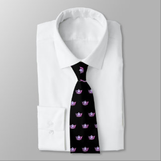 Miss America Pink Crown Men's Tie