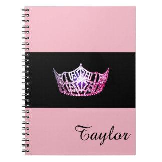 Miss America Pink Crown Notebook- Custom Name Notebooks