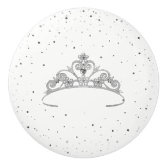 Miss America Princess Crown Ceramic Cabinet Knob