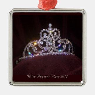 Miss America princess tiara Christmas Ornament