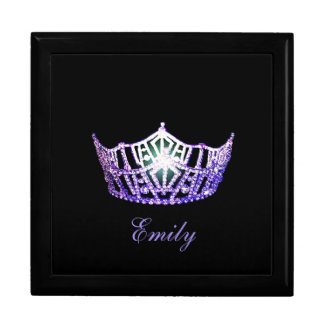 Miss America PURPL Crown Personal Name Jewerly Box