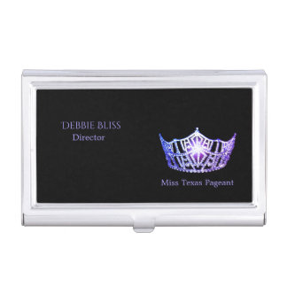 Miss America Purple Crown Business Card Holder