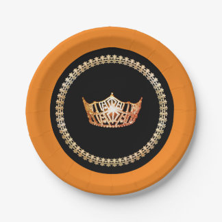 "Miss America Red 7"" Paper Plates"